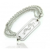 3 Chain Bracelet with Polished ID - BP01/EMS