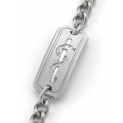 Curb Chain with Satin ID - B01